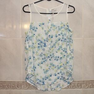 LC Lauren Conrad Floral Sleeveless Blouse Small